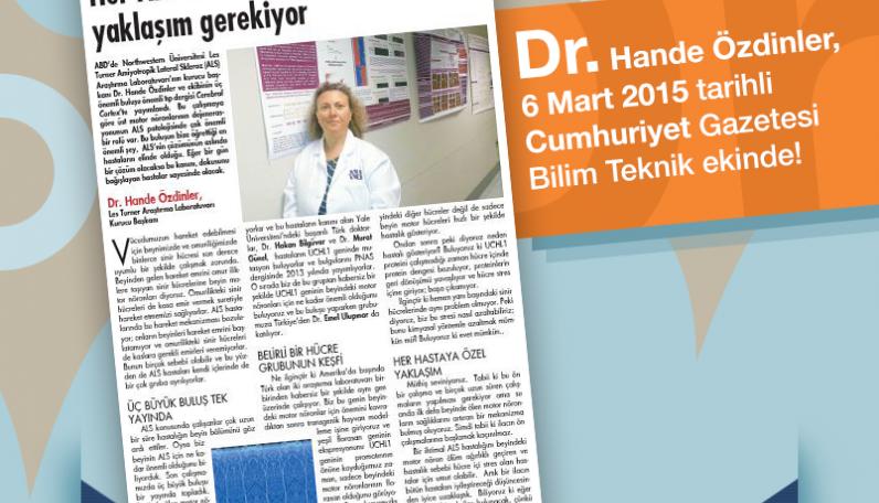 Dr. Hande Özdinler Bilim Teknik Röportajı