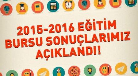 2015-2016 ÖĞRENİM YILINDA BURS ALMAYA HAK KAZANAN ÖĞRENCİLER
