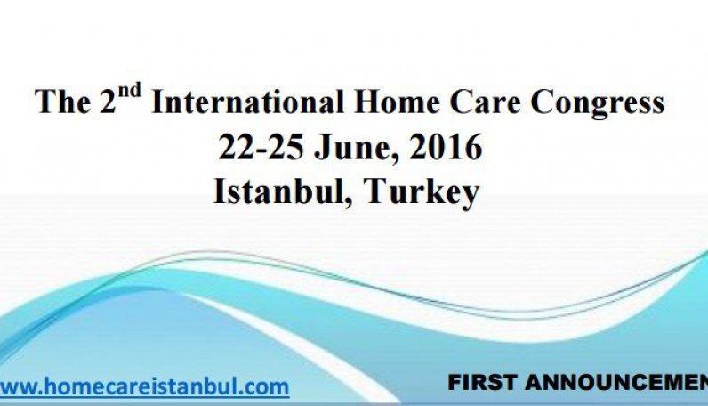 Ulusal Evde Bakım Kongresi 22-25 Haziran 2016