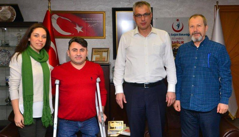 İstanbul İl Sağlık Müdürü Prof. Dr. Kemal Memişoglu'nu ziyarete ettik