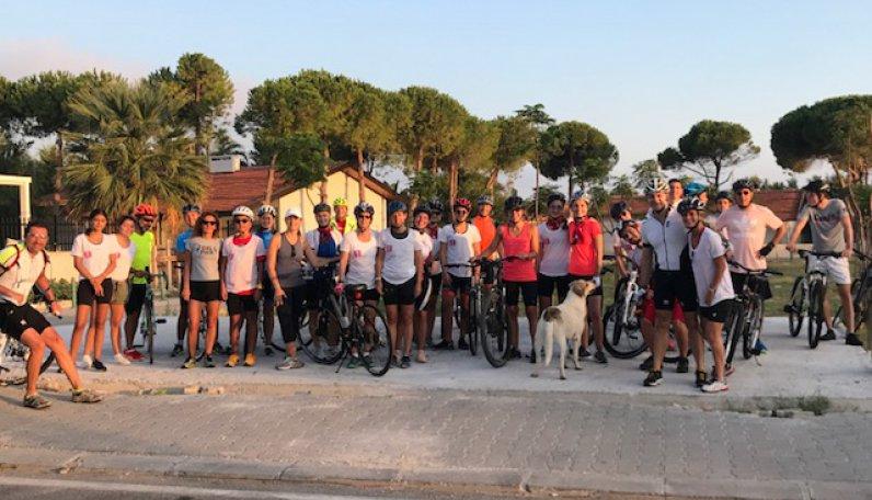Cycle for ALS 2. Bisiklet turu Alaçatı'da