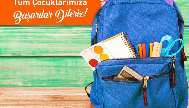 Yeni eğitim - öğretim yılında tüm çocuklarımıza başarılar dileriz!