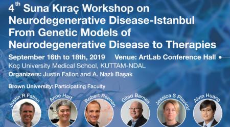 4th Suna Kıraç Workshop on Neurodegenerative Disease, Istanbul  From Genetic Models of Neurodegenerative Disease to Therapies