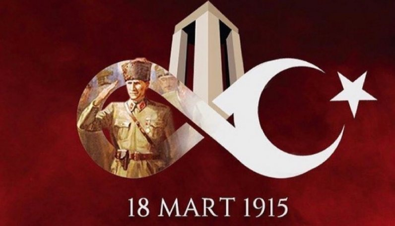 18 Mart Çanakkale Zaferi'mizin 106. yıl dönümünde Ulu Önder Gazi Mustafa Kemal Atatürk'ü ve tüm şehitlerimizi rahmet, minnet ve saygıyla anıyoruz.